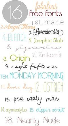 ☆ fabulous {free} fonts
