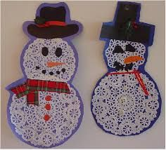 Image result for paper doily snowflake craft handprint