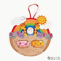 Paper Plate Noah's Ark Craft Kit - Oriental Trading