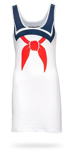 ThinkGeek :: I am Stay Puft Ladies' Tank Top......easy sailor moon costume haha. All I need is blue pleated skirt