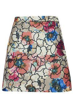 Premium Poppy Lurex Skirt - New In This Week - New In