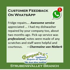 Customer Feedback, Customer Service, Appliance Repair, Good Job, Happy, Quotes, Instagram, Quotations, Customer Support