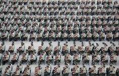 More than Paramilitary policemen take park in an exercise in Nanjing, Jiangsu province, China September REUTERS Nanjing, People Crowd, Photos 2016, Military Veterans, Pictures Of The Week, Culture Travel, Photojournalism, Chinese Art, Textures Patterns