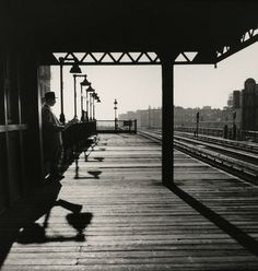Bronx Subway Station. New York, 1950.    By Larry Silver  Source: brucesilverstein.com