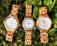 Autentické drevené hodinky Waidzeit vyrobené z dubového dreva Wood Watch, Wooden Clock