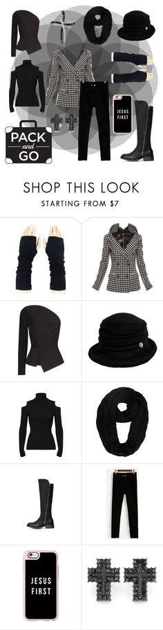 """""""Cold Winter Vacation"""" by medievalhavoc ❤ liked on Polyvore featuring Jean-Paul Gaultier, Roland Mouret, Siggi, Theory, Casetify, West Coast Jewelry and Amour"""