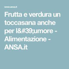 Frutta e verdura un toccasana anche per l'umore - Alimentazione - ANSA.it