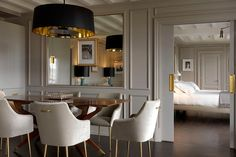 Designer Michele Bönan has completed work for the Ferrgamo family on more than 10 of their hotel properties; pictured above is the penthouse of the Portrait Firenze in Florence.