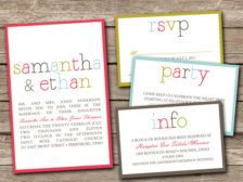 Invitations for Weddings, Bridal Showers, Engagement Parties - Page 3