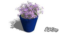 3D Model of 3d flower - flower pot