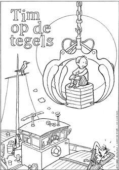 Illustratie: Kees de Boer Uit het boek Tim op de Tegels