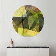 Curioos | Exclusive Art Prints by the world's finest Digital Artists #art #kunst #geometric,#trees #polygons #triangles #yellow #green #gray #gold #goldocker #piaschneider #modern #artprints #diskprint