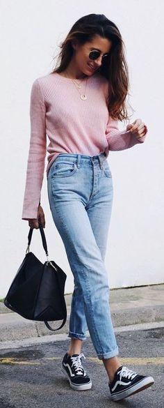 Rosa y denim. Un outfit perfecto para primavera