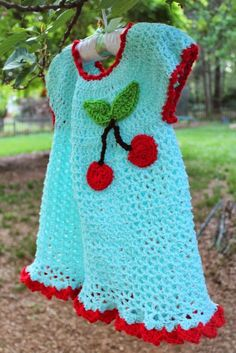 Harris Sisters GirlTalk: Retro Cherry Baby Dress Free Crochet Pattern
