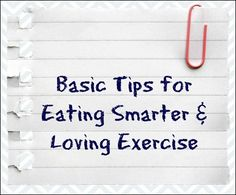 Basic tips for eatin
