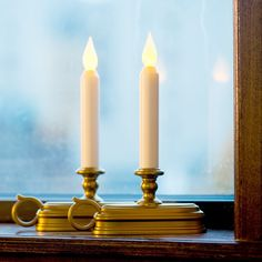 Olde English Flameless Window Candle Set of 2 (Battery) Christmas Window Candle Lights, Led Window Candles, Electric Window Candles, Battery Candles, Christmas Window Decorations, Decorating With Christmas Lights, Flameless Candles, Christmas Candles, Taper Candles