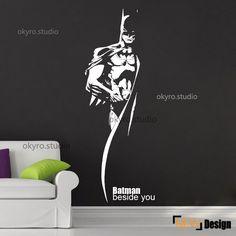 Batman mur autocollants batman wall decal garçon mur décalque héros dessin animé chambre enfants salle de pépinière by DOMOREwallstickers on Etsy