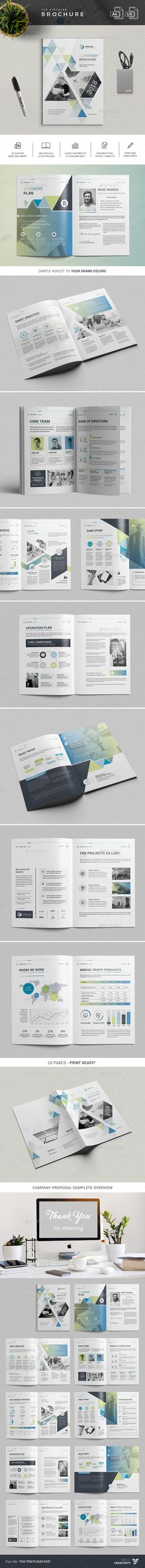 The Company Brochure Design Template InDesign INDD. Download here: https://graphicriver.net/item/the-company-brochure/22039268?ref=ksioks