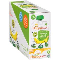 Happy Baby Simple Combos Bananas, Kiwi & Spinach Organic Baby Food 8-4 oz. Pouches