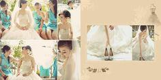 Anthony & Felicia Wedding Day Album Design, photo by HOP, edit & design by Wenny Lee