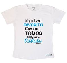 Camiseta branca - Meu livro favorito - Romanos www.gravidezinvisivel.iluria.com #adoção #gravidezinvisivel