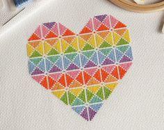 Geometrische pleinen Cross Stitch Kit door theworldinstitches