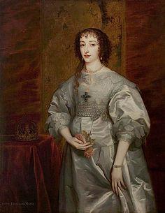 Queen Henrietta Maria (1609–1669) after Sir Anthonis van Dyck (Warwick Shire Hall - Warwick, Warwickshire UK)