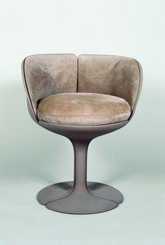 Pierre Paulin; Lacquered Aluminum 'L'Elysse' Chair for Alfa International, 1973.