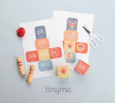 Get up and move dice printables  | 10 Kids Party Activities - Tinyme Blog