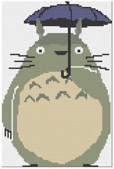 Totoro from My Neighbor Totoro PDF Cross Stitch Pattern