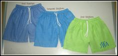 Blanks Boutique Boy Embroidery Blank Swim Trunks With Example Applique