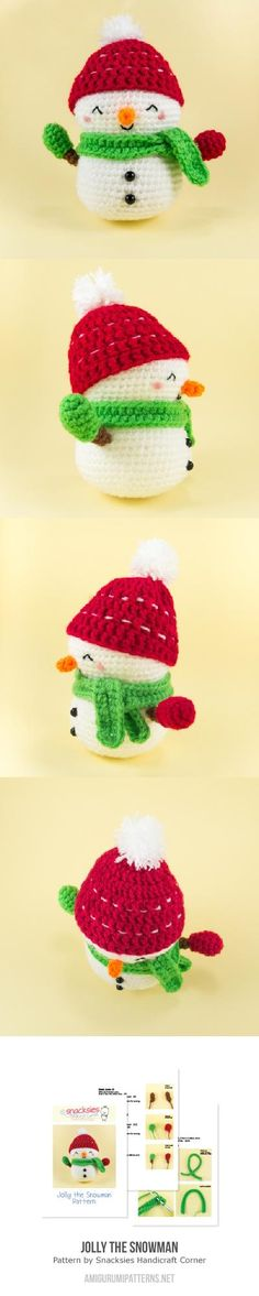 Jolly The Snowman Amigurumi Pattern