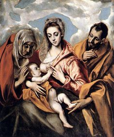 "El Greco ""The Holy Family"", 1595 (Greece / Spain, Late Renaissance / Mannerism, 16th cent.)"