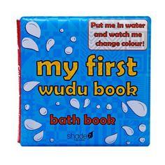 My First Wudu book, A waterproof bath book to teach kids wudu in a fun way