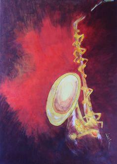 saxophone painting