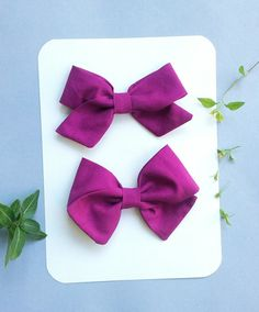 Plum Fabric Bow by SweetandSparkle on Etsy