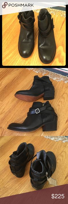 Hudson Horrigan Boots in Jet Black (Euro 37/US 7) Brand new, with tags. Horrigan booties in jet black leather.  Retail is $295. H By Hudson Shoes Ankle Boots & Booties