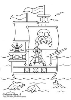 Pirate activities: 9 FREE pirate-themed coloring pages. Pirate Coloring Pages, Coloring Pages For Boys, Free Coloring Pages, Coloring Books, Preschool Pirate Theme, Pirate Activities, Pirate Day, Pirate Birthday, Pirate Crafts