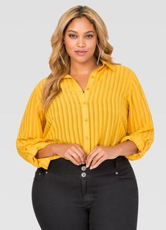 cbba8007567 Shadow Stripe Button Front Tunic Shadow Stripe Button Front Tunic Plus Size  Tees