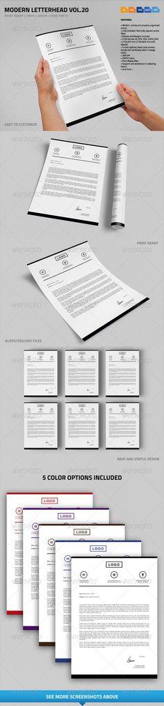 Corporate Letterheads Bundle #2 Fonts-logos-icons Pinterest