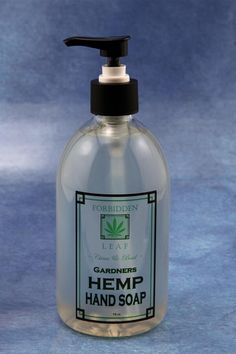 Forbidden Leaf Hemp Seed Oil Hand Soap with the refreshing scent of citrus/basil www.forbiddenleaf.com