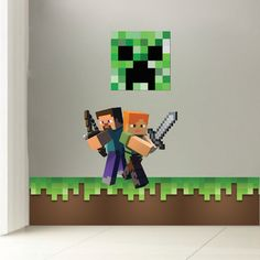 Minecraft Grass Wall Decal