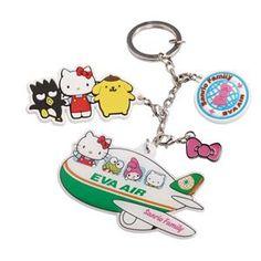 Hello Kitty Hand in Hand Easycard Key Ring - Eva Air Sky Shop