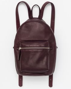Leather Backpack - Oxblood