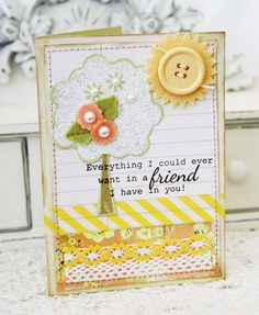 A Friend In You Card by Melissa Phillips for Papertrey Ink (July 2012)