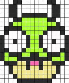 GIR Invader Zim Mushroom perler bead pattern