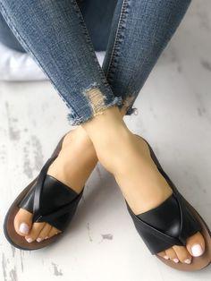 Shop Satin Splicing Toe Post Flat Sandals right now, get great deals at joyshoetique Flat Sandals Outfit, Shoes Flats Sandals, Cute Sandals, Leather Sandals, Shoe Boots, Minimalist Shoes, Balenciaga Shoes, Mens Fashion Shoes, Womens Fashion