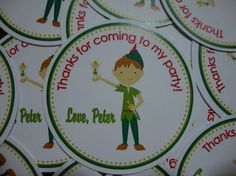 Peter Pan Birthday Favor Tags by CustomParty4U on Etsy, $6.00