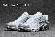 Good Production Line Nike Air Max Plus Kpu Tuned White Silver Grey Black 604133 010 Sneakers Men's Running Shoes 604133 010