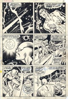Silver Surfer vol.1 16 page 10 - John Buscema Comic Art